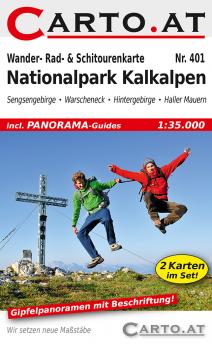Wanderkarte Nationalpark Kalkalpen 1:35.000: Sengsengebirge Warscheneck Hintergebirge Haller Mauern Pyhrn-Priel