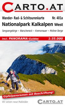 Wanderkarte Nationalpark Kalkalpen West  1:35.000: Sengsengebirge Warscheneck Kremsmauer Mollner-Berge Steyrtal