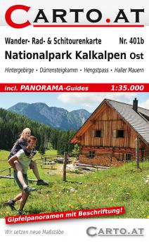 Wanderkarte Nationalpark Kalkalpen Ost 1:35.000: Hintergebirge Dürrensteigkamm Hengstpass Haller Mauern
