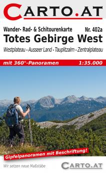 Wanderkarte Totes Gebirge West 1:35.000: Westplateau Ausseer-Land Tauplitzalm Zentralplateau