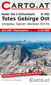 Wanderkarte Totes Gebirge Ost 1:35.000: Zentralplateau Tauplitzalm Warscheneck Pyhrn-Priel