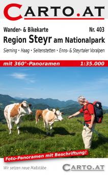 Wanderkarte Region Steyr am Nationalpark 1:35.000: Sierning Haag Seitenstetten Enns- & Steyrtaler Voralpen
