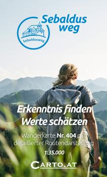 Wanderkarte Sebaldusweg 1:35.000:  Großraming, Losenstein, Laussa, Maria Neustift, Gaflenz, Weyer