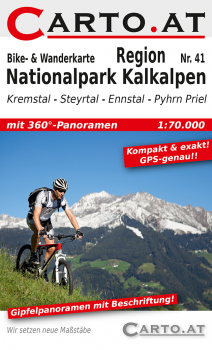 Bikekarte Region Nationalpark Kalkalpen 1:70.000: Kremstal Steyrtal Ennstal Pyhrn Priel