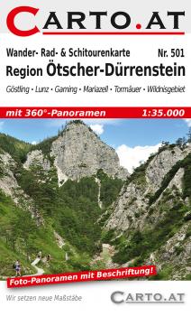 Wanderkarte Region Ötscher-Dürrenstein 1:35.000: Göstling Lunz Gaming Mariazell Tormäuer Wildnisgebiet Dürrenstein