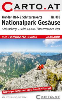 Wanderkarte Nationalpark Gesäuse 1:35.000: Gesäuseberge Johnsbach Admont Haller-Mauern Weng Eisenerzer Alpen Hieflauf Radmer