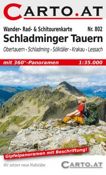 Wanderkarte Schladminger Tauern 1:35.000: Obertauern Schladming Naturpark Sölktäler Krakau Lessach