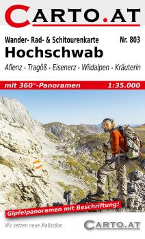 Wanderkarte Hochschwab 1:35.000: Aflenz Tragöß Eisenerz Wildalpen Kräuterin
