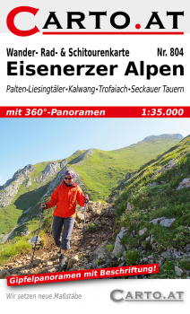 Wanderkarte Eisenerzer Alpen 1:35.000: Palten-Liesingtäler Kalwang Trofaiach Seckauer Alpen
