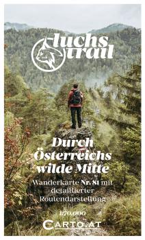 Wanderkarte Luchs Trail 1:70.000: Reichraming Hintergebirge Haller-Mauern Admont Gesäuse Palfau Ybbstaler-Alpen Wildnisgebiet Dürrenstein Göstling Lunz