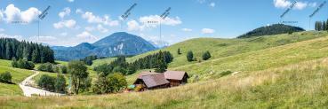 Berg-Panorama Anlaufalm (Reichraminger Hintergebirge/Nationalpark Kalkalpen)