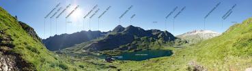 Berg-Panorama Giglachseen (Schladminger Tauern)