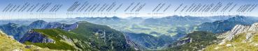 Berg-Panorama Hoher Nock (Sengsengebirge/Nationalpark Kalkalpen)
