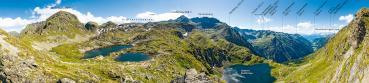 Berg-Panorama Klafferkessel (Schladminger Tauern)