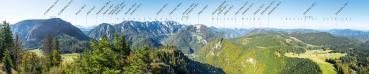 Berg-Panorama Trämpl (Reichraminger Hintergebirge/Nationalpark Kalkalpen)