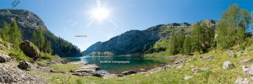 Berg-Panorama Vorderer Lahngangsee (Totes Gebirge)
