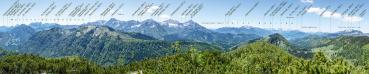 Berg-Panorama Wasserklotz (Reichraminger Hintergebirge/Nationalpark Kalkalpen)